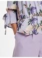 LC Waikiki Fırfır Detaylı Kruvaze Krep Bluz Lila